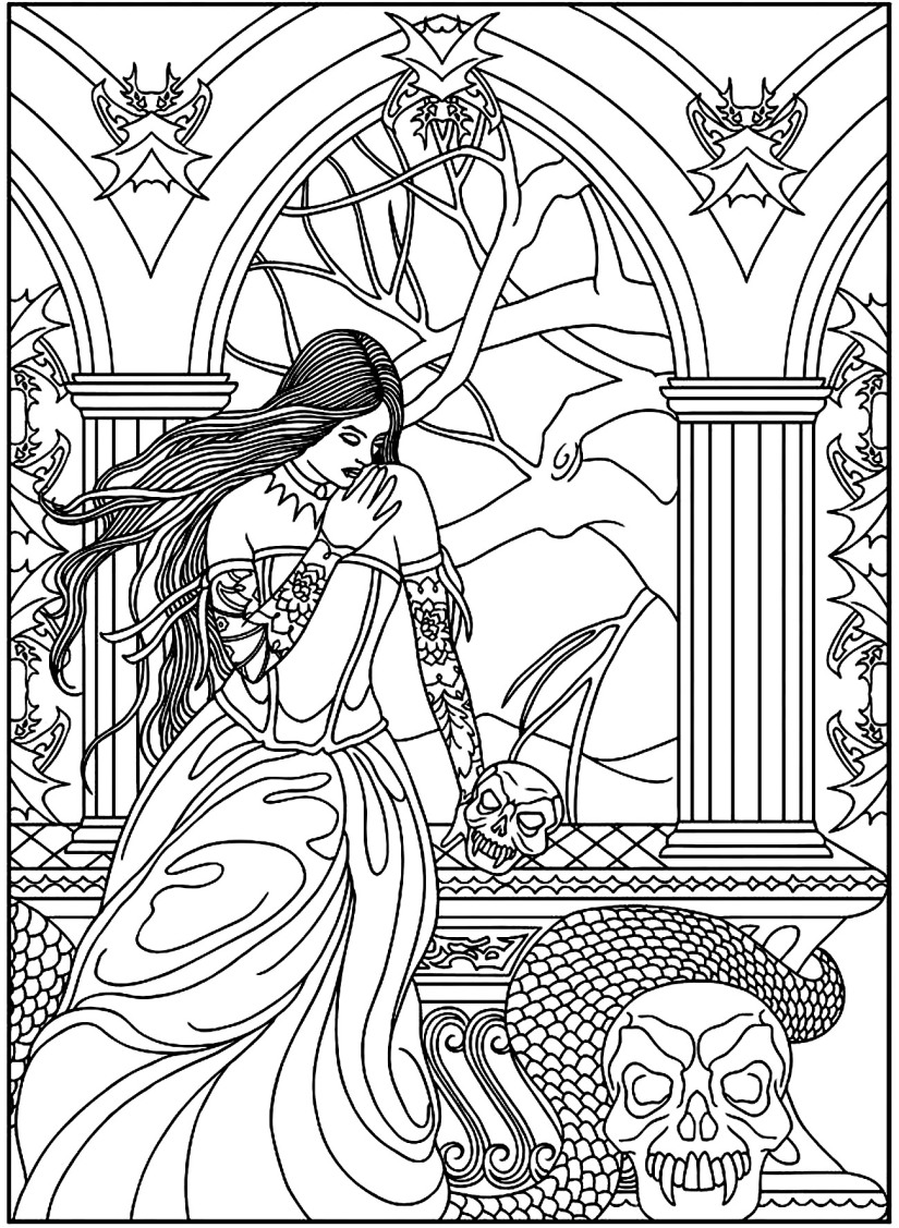 coloring-adult-fantasy-woman-skulls-snake